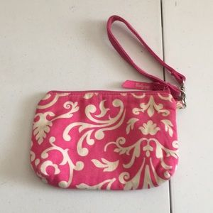 Handbags - Thirty one wristlet pink and white